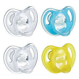 Tommee Tippee Ultra-Light 6-18M 4-Pack Silicone Pacifiers in Blue/Clear