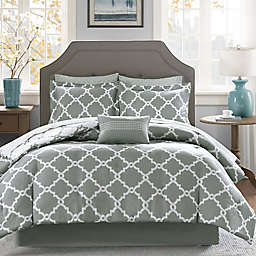 Madison Park Essentials™ Merritt 9-Piece Full Comforter Set in Grey