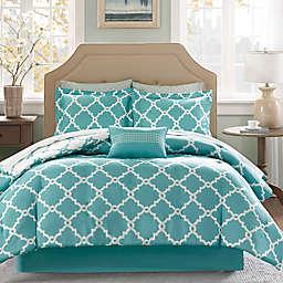 Madison Park Essentials™ Merritt 9-Piece Full Comforter Set in Aqua