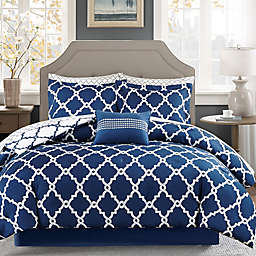 Madison Park Essentials™ Merritt 9-Piece Queen Comforter Set in Navy