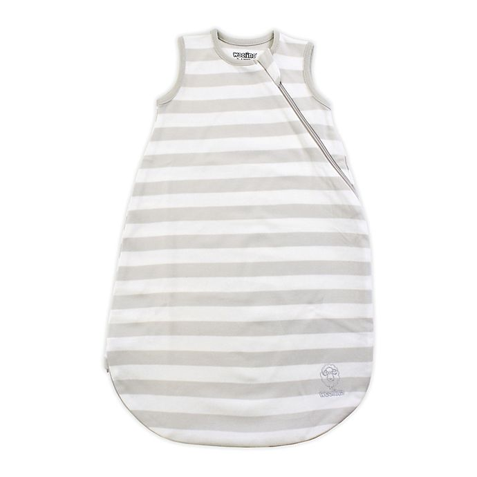 Alternate image 1 for Woolino® Striped Organic Cotton Wearable Blanket