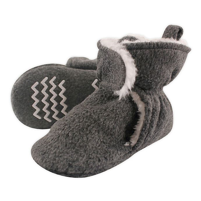 Alternate image 1 for Hudson Baby Size 3T Sherpa Lined Scooties in Heather Charcoal