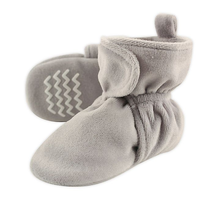Alternate image 1 for Hudson Baby Size 0-6M Fleece Scooties in Grey