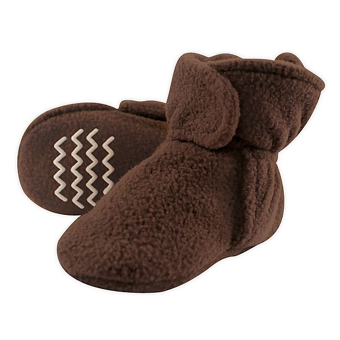 Alternate image 1 for Hudson Baby Size 12-18M Fleece Scooties in Brown