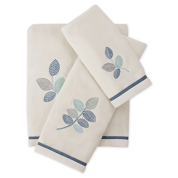 Alternate image 1 for Croscill® Mosaic Leaves Bath Towel Collection in Spa