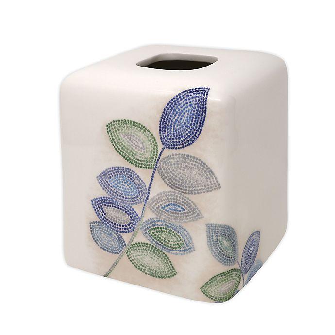 Croscill Mosaic Leaves Tissue Box Cover Bed Bath Beyond
