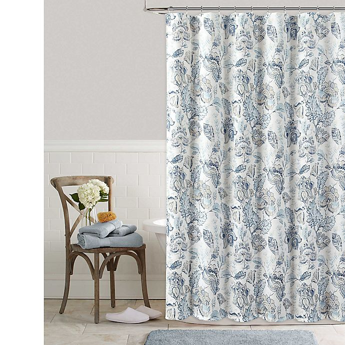 Alternate image 1 for Colordrift Bastille Floral Shower Curtain
