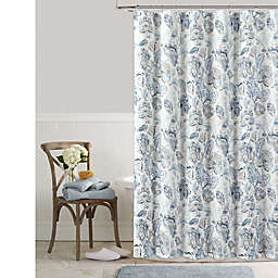 Colordrift Bastille Floral 72-Inch x 72-Inch Shower Curtain in Aqua