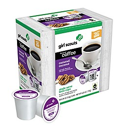 girl scouts Caramel Coconut Coffee Pods for Single Serve Coffee Makers 18-Count