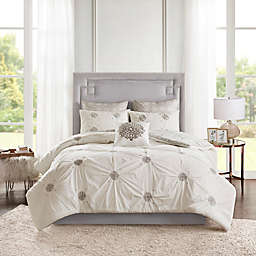 Madison Park Malia 6-Piece Embroidered Reversible King/California King Comforter Set in Ivory