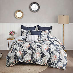 Madison Park Mavis 8-Piece Reversible California King Comforter Set in Dark Blue