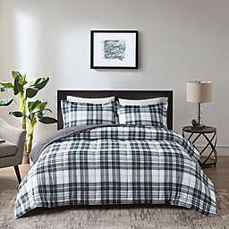 Madison Park Essentials Parkston 3M Scotchgard Comforter Set in Black/White