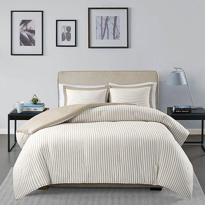 Alternate image 1 for Madison Park Essentials Hayden 3-Piece Reversible Yarn Dyed Stripe Duvet Cover Set