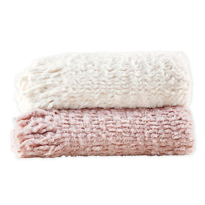 Alternate image 1 for Madison Park Lilly Faux Fur Throw with Fringe