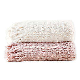 Madison Park Lilly Faux Fur Throw with Fringe