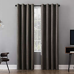 Sun Zero® Gavlin Crosshatch Extreme Total Blackout Grommet Window Curtain Panel