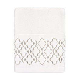 Colordrift Brianna Fret Bath Towel in Ivory