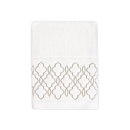 Colordrift Brianna Fret Hand Towel in Ivory