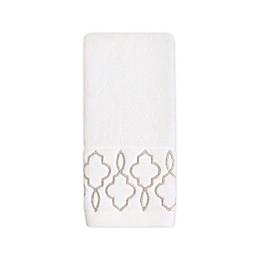 Colordrift Brianna Fret Fingertip Towel in Ivory