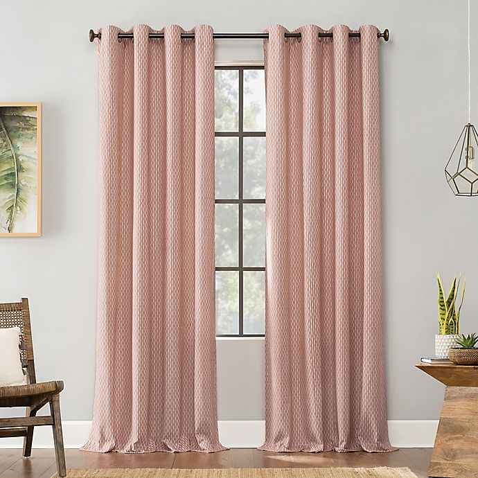 Alternate image 1 for Archaeo® Art Deco Cotton Grommet Top Window Curtain
