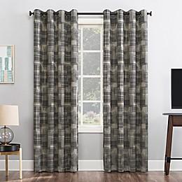 Sun Zero® Marcus Crosshatch Thermal Extreme Total Blackout Grommet Window Curtain Panel