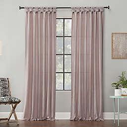 Archaeo® Washed Cotton Twist Tab 63-Inch Window Curtain in Rose Quartz