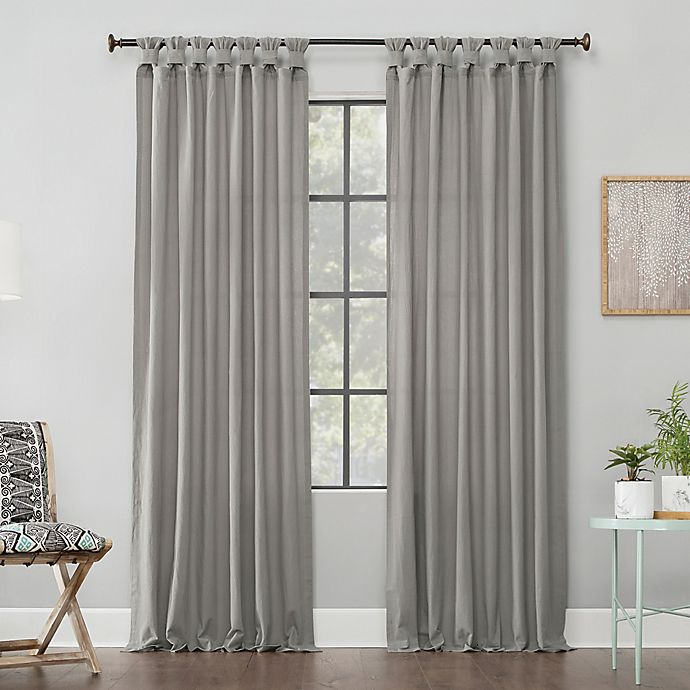 Alternate image 1 for Archaeo® Washed Cotton Twist Tab Window Curtain