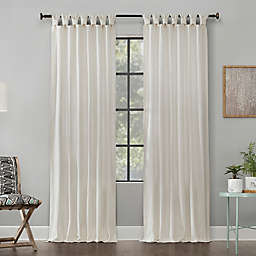 Archaeo® Washed Cotton Twist Tab 84-Inch Window Curtain in Ivory