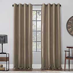 Archaeo® Linen Blend 95-Inch 100% Blackout Window Curtain Panel in Mocha (Single)