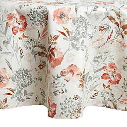 Floral Fields Laminated 70-Inch Round Tablecloth in Cream