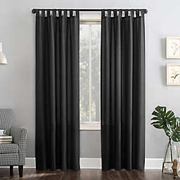 No.918® Jacob Heathered Texture Semi-Sheer Tab Top Window Curtain Panel