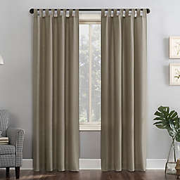 No.918®Jacob Heathered Texture Semi-Sheer 95-Inch Tab Top Window Curtain Panel in Barley