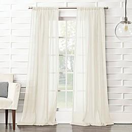 No.918®Lourdes Crushed Texture Semi-Sheer Rod Pocket Window Curtain Panel