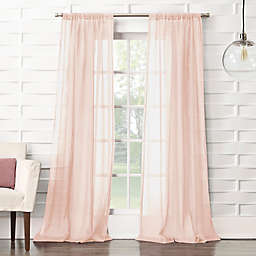 No. 918®Lourdes Crushed Texture Semi-Sheer 95-Inch Curtain Panel in Blush (Single)