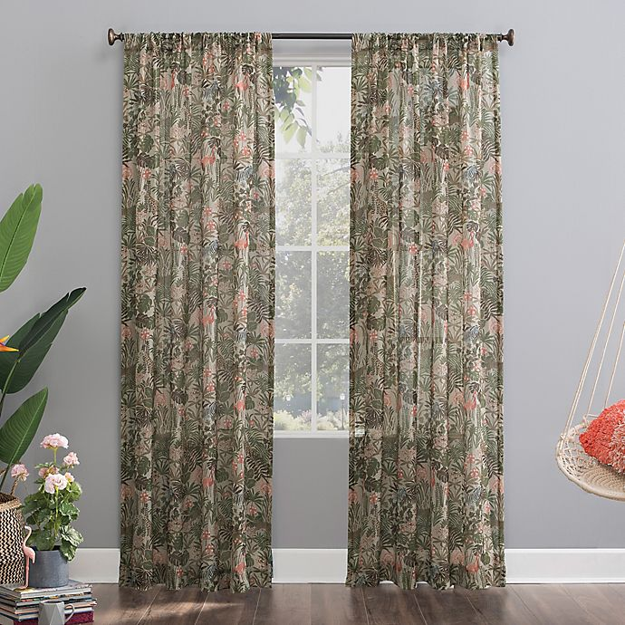 Alternate image 1 for No.918®Senegal Night Safari Semi-Sheer Rod Pocket Window Curtain Panel