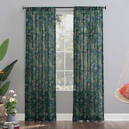 No.918® Senegal Night Safari Semi-Sheer 63-Inch Rod Pocket Window Curtain Panel in Midnight