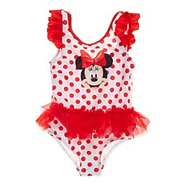 Disney® Minnie Mouse 1-Piece Swimsuit in Red