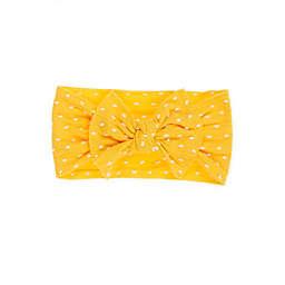 Baby Bling Shabby Knot Sunshine Headband in Yellow