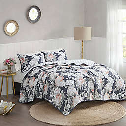 Madison Park Mavis 3-Piece Coverlet Set in Dark Blue