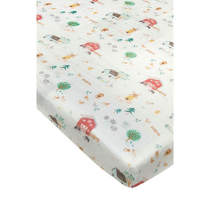 Alternate image 1 for Loulou Lollipop™ Animal Farm Crib Sheet