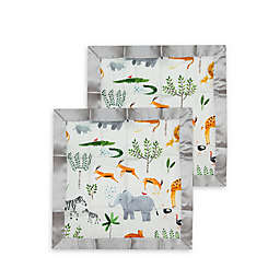 Loulou LOLLIPOP Safari Jungle Security Blankets (Set of 2)