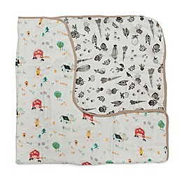 Loulou LOLLIPOP Animal Farm Muslin Baby Quilt