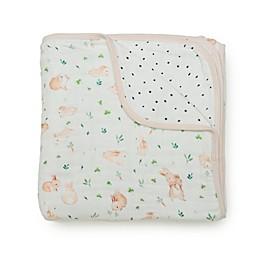 Loulou LOLLIPOP Bunny Meadow Muslin Baby Quilt