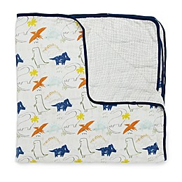 Loulou LOLLIPOP Dinoland Muslin Baby Quilt