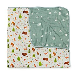 Loulou LOLLIPOP Forest Friends Muslin Baby Quilt