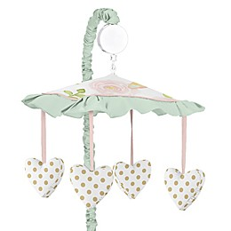 Sweet Jojo Designs Butterfly Floral Musical Mobile in Pink/Mint