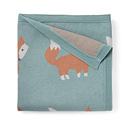 Elegant Baby® Fox Cotton Stroller Blanket in Teal