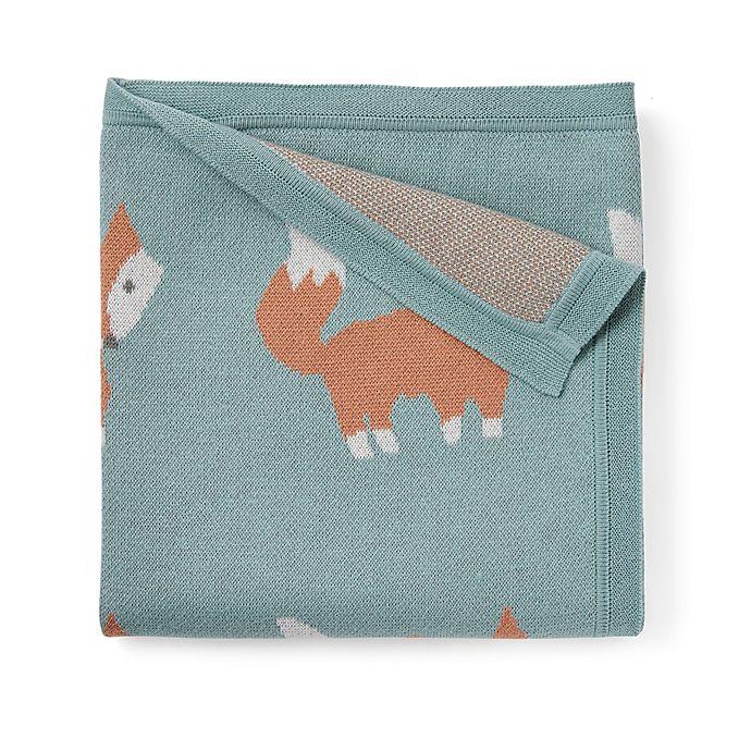 Alternate image 1 for Elegant Baby® Fox Cotton Stroller Blanket in Teal