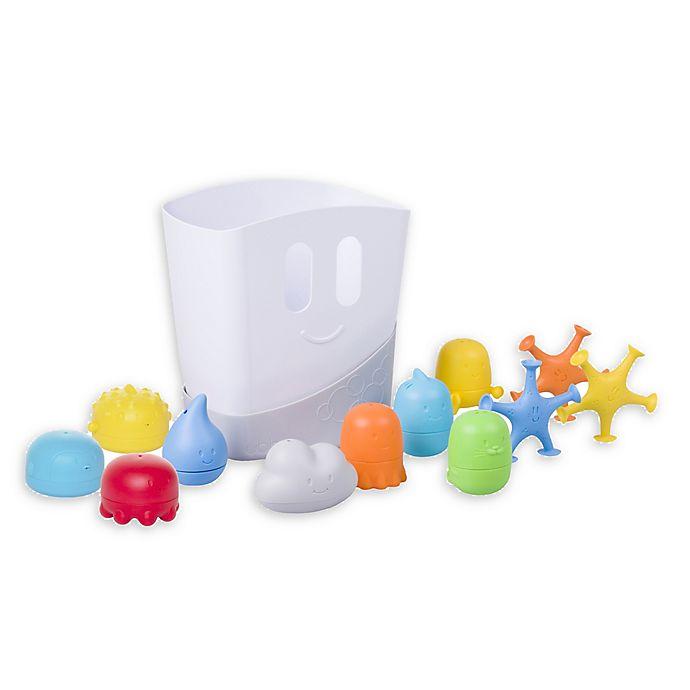 Alternate image 1 for Ubbi® 12-Piece Bath Toy Gift Set in White