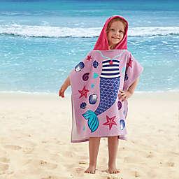 Mermaid Kids Hooded Beach Towel